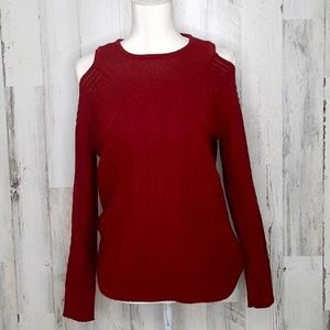 🎄 One A Cold Shoulder Knit Sweater